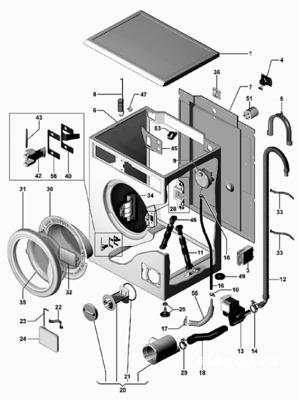 Ремонт стиральных машин, продажа запасных частей.